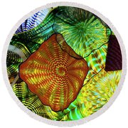 The Shape Of Color 5 Round Beach Towel
