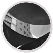 The Shape Of Modern Architecture  Round Beach Towel