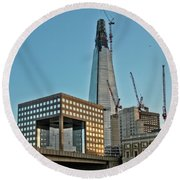 The Shard London Bridge Round Beach Towel