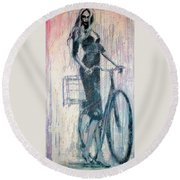 The She Wolf Round Beach Towel