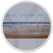 The Shell Collector Round Beach Towel