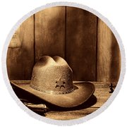 The Sheriff Office Round Beach Towel