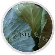The Shy Cabbage The Keg Room Old English Hunter Green Round Beach Towel