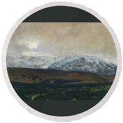 The Sierra De Guadarrama Round Beach Towel