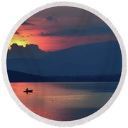 The Silence In Me... Round Beach Towel