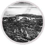The Silver City Round Beach Towel