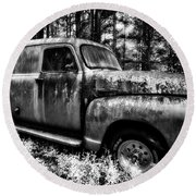 The Silver Ghost Round Beach Towel