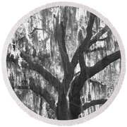 The Silver Tree Round Beach Towel
