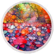 The Simple Dreams Of Fallen Leaves Round Beach Towel