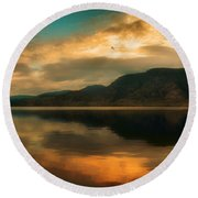 The Skaha Sunrise Round Beach Towel