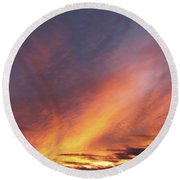 The Sky How It Moves Me Round Beach Towel