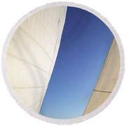 The Slot A Space Between Sails That Sailor's Know Round Beach Towel