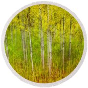 The Small Forest Round Beach Towel
