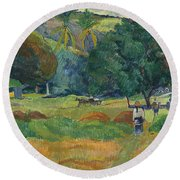 The Small Valley Round Beach Towel