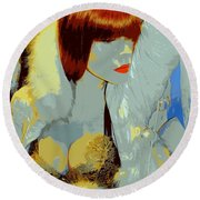 The Snow Bunny Round Beach Towel