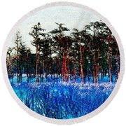 The Snow King 1899 Round Beach Towel