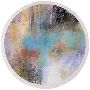 The Soft Place Round Beach Towel