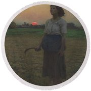 The Song Of The Lark Round Beach Towel