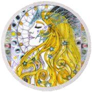 The Soothsayer Round Beach Towel