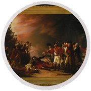 The Sortie Made By The Garrison Of Gibraltar Round Beach Towel