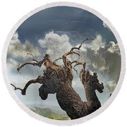 The Soul Of A Tree Round Beach Towel