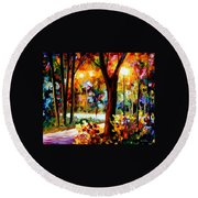 The Soul Of Night Round Beach Towel