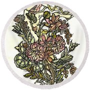 The Soul Of Wildflowers Round Beach Towel