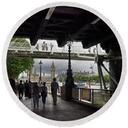 The Southbank, London Round Beach Towel