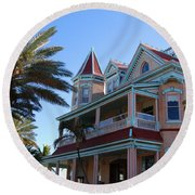 The Southernmost House In Key West Round Beach Towel