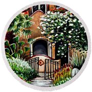 The Spanish Gardens Round Beach Towel