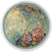 The Sparkle Of Light Round Beach Towel