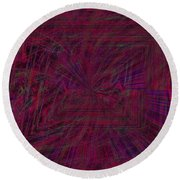 The Speed Of Infinity Round Beach Towel