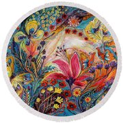 The Spiral Of Life Round Beach Towel