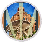 The Spirit Of Asheville Round Beach Towel