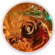 The Spirit Of Christmas - Abstract Art Round Beach Towel