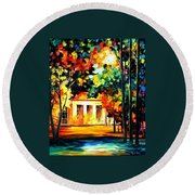 The Spirit Of The Night Round Beach Towel