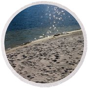 The Spirit Of Water Round Beach Towel