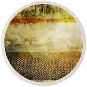 The Spirit Trees Round Beach Towel