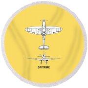 The Spitfire Round Beach Towel