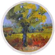 The Spring Tree Round Beach Towel
