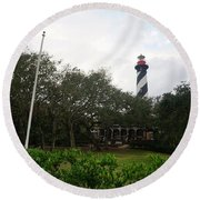 The St. Augustine Light Station Round Beach Towel