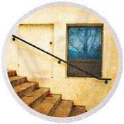 The Stairway Of Reflections Round Beach Towel