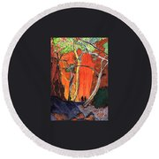 The Standley Chasm Round Beach Towel