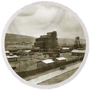 The Stanton Colliery Empire St. The Heights Wilkes Barre Pa Early 1900s Round Beach Towel