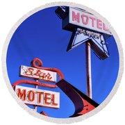 The Star Motel Round Beach Towel
