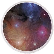 The Starforming Region Of Rho Ophiuchus Round Beach Towel