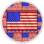 The Stars And Stripes 2 Round Beach Towel