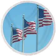 The Stars And Stripes Round Beach Towel