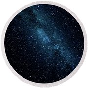The Stars At Tuttle Creek, Lone Pine, Ca, Usa, September, 2016 Round Beach Towel