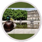 The Stately Duck Round Beach Towel